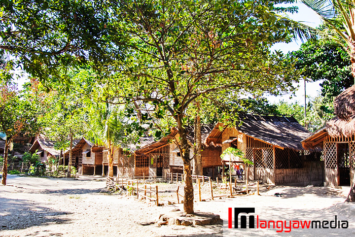 The Mangyan village with their houses