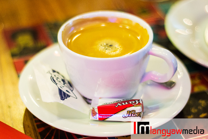 Hot brewed coffee with Hany chocolate