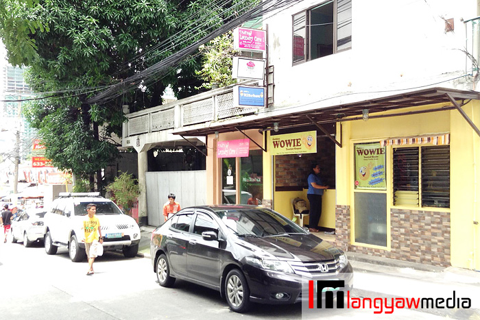 Wowie's Toasted Siopao is just along Villena St., Poblacion, Makati City