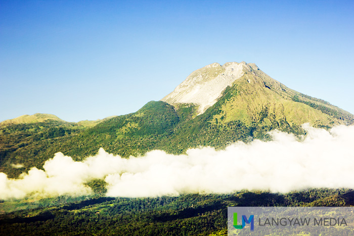 The tallest mountain in the Philippines, Mt. Apo as seen early in the morning