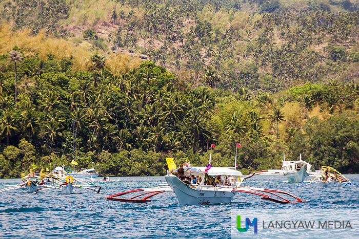 The sight of the marian fluvial procession