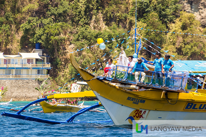 One of the main boats that participated in the Marian fluvial procession