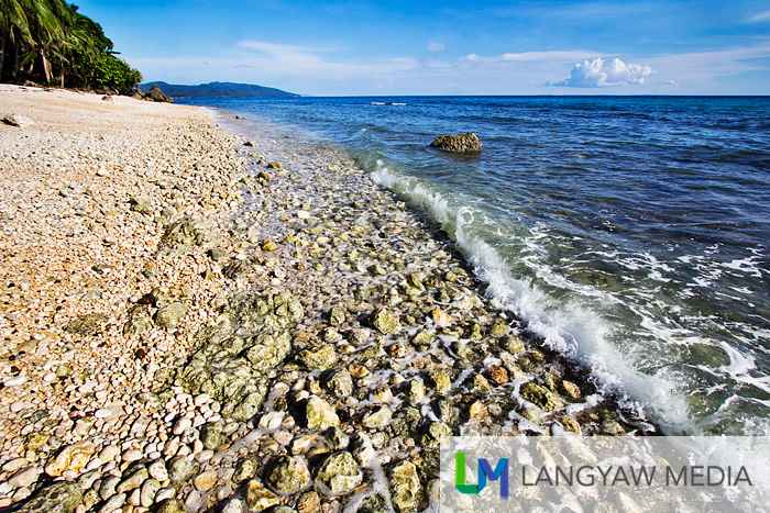 Rocky but beautiful beach in Minalabac's Bagolatao coast