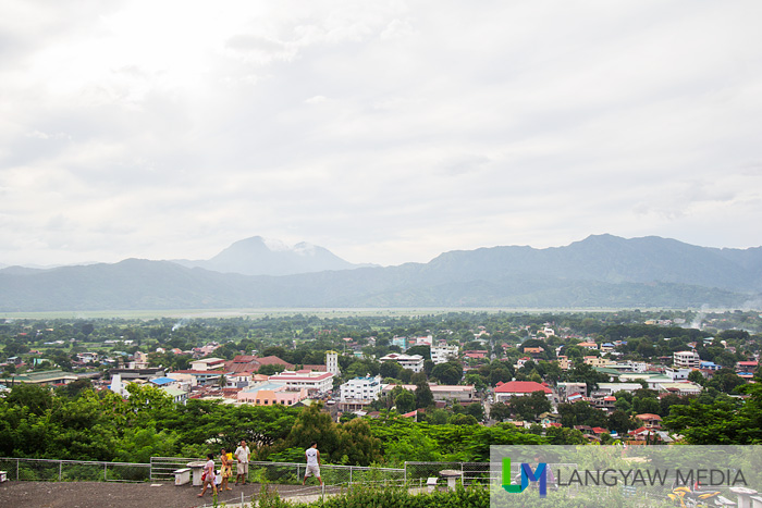 Scenic view of Bangued and beyond with Mount Banti Goolong (Sleeping Beauty mountain) in the background. This is in Cassamata Hill National Park in Bangued.