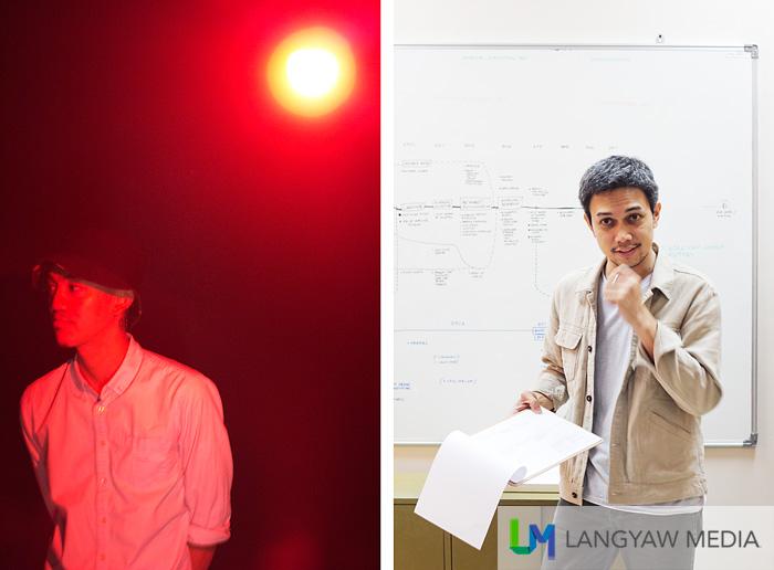 Contemporary Filipino artists: left, Timmy Harn of Tito and Tita collective; Right, Buen Calubayan