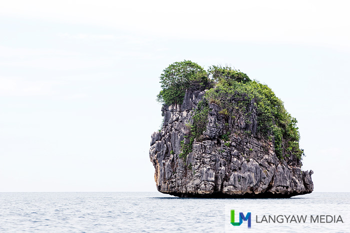 A lone islet, picturesque