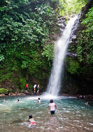 A closer look at Busay Falls