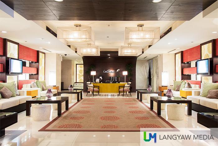 Le Spa lobby and waiting area
