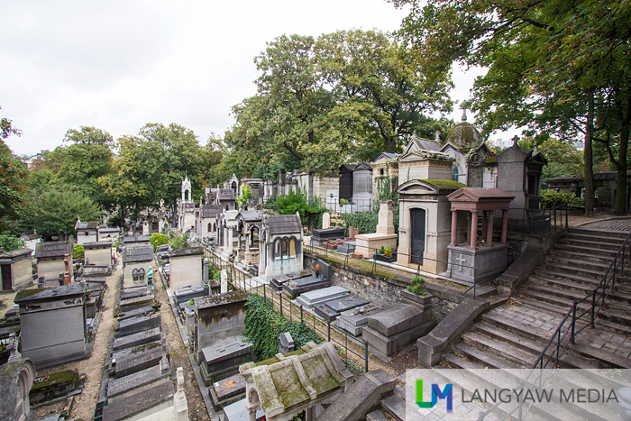 Just a section of the sprawlingCimetiere du Montmartre, the third biggest cemetery in Paris