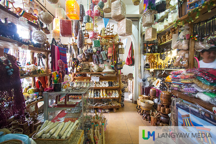 Inside one of the souvenir and handicraft shop
