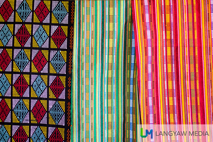 Different textile designs available at the Yakan Weaving Center