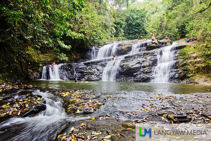 The low but still beautiful upper tiers of Merloquet Falls
