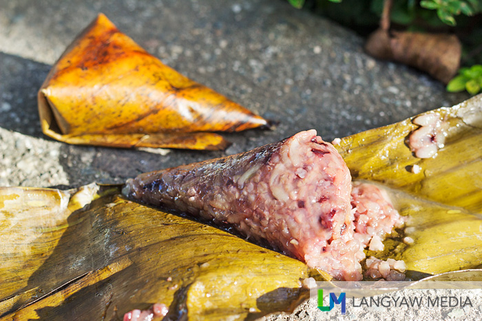 Cone like suman is filling, delicious and sweetness is just slight