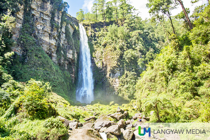 The spectacular Tagpeo Falls which is reached after a 7 hour trek and three hours ride