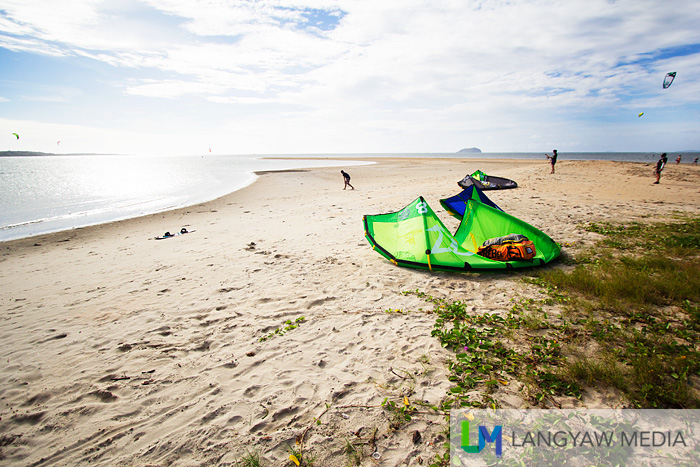 Well, unfortunately for beach goers, Capusan Beach is now dominated by foreign kiteboarders.