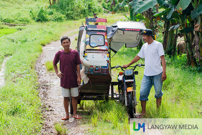 My guide and driver of the tricycle that brought me to Ditoray