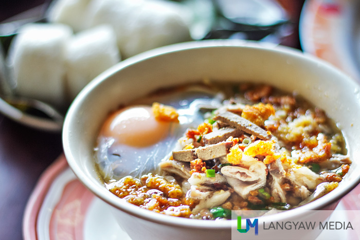 Power food! Netong's super special batchoy with freshly cracked egg is the best!