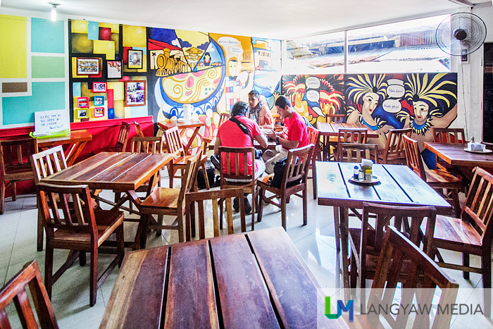 Colorful and clean interior of the restaurant