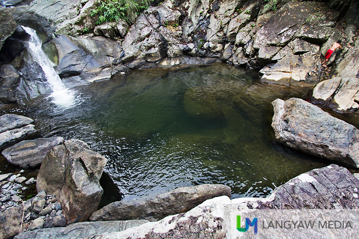 The wonderful pool of Liktinon Falls ideal for swimming