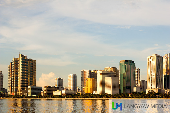 Roxas Boulevard buildings in late afternoon