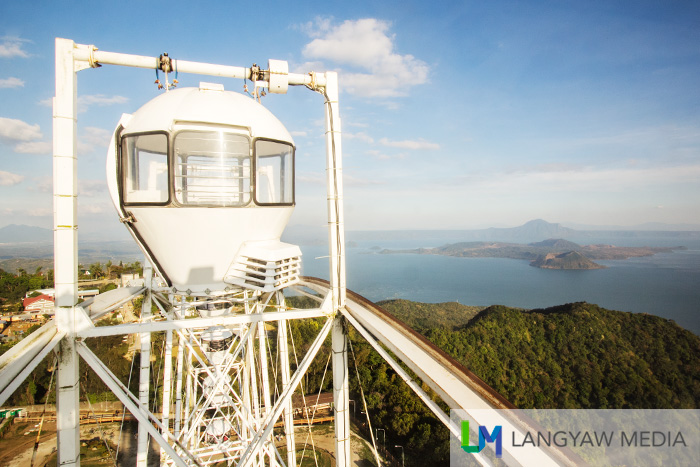 At the highest part of the Sky Eye. Taal Volcano in the background