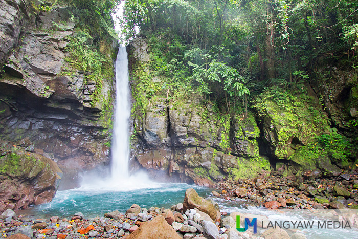 Beautiful Tuasan Falls with its short but strong gush of water