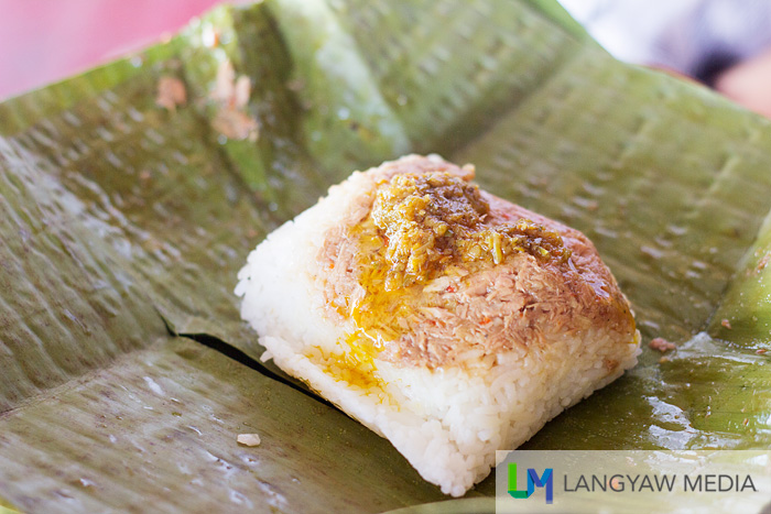 Delicious beef pater drizzled with sambal like palapa