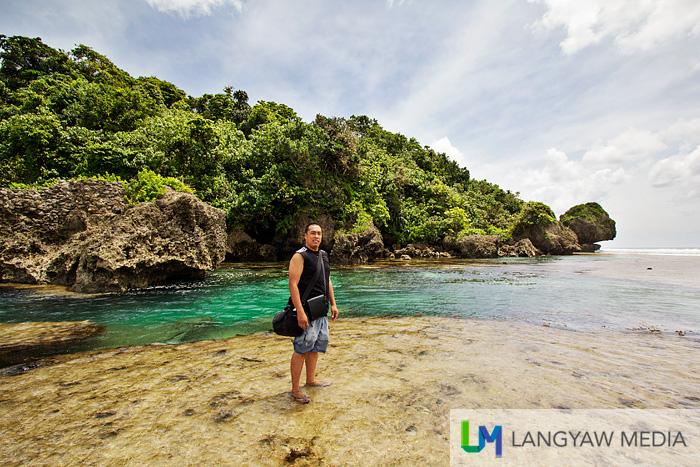 Ang Langyaw, in the tidal pools of Magpupungko, Pilar, Siargao Island