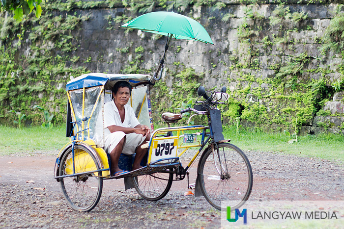 Typical pedicab in the city locally called the 'traysikad'