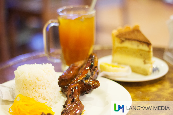 Tsokolate's chicken barbecue and desserts are quite popular. It also has an eclectic interior.