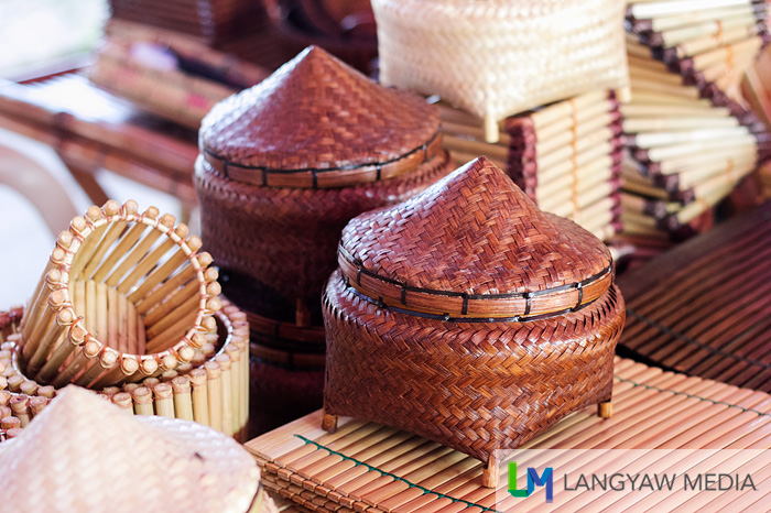 Bamboo products in different forms
