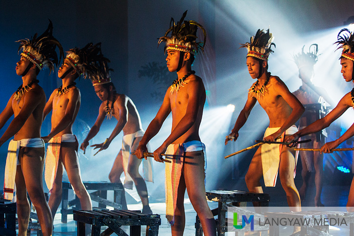 A dance troupe performing during the Pammadayaw, Ilocano and Itneg cultural night