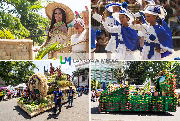 Foundation Day parade with beautiful ladies, traditional dances and interesting floats made primarily from bamboo