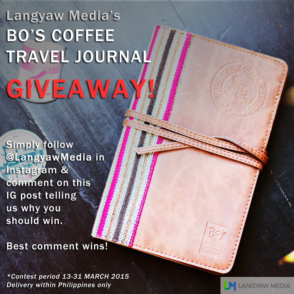 Bo's Coffee Origins Travel  Journal Giveaway