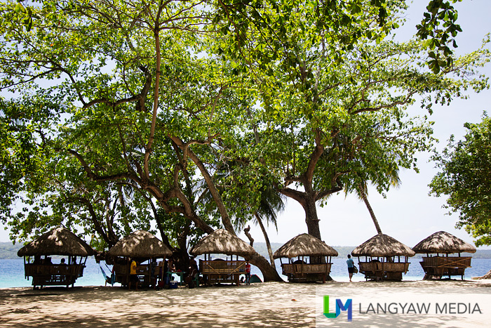 Beach huts near the shore