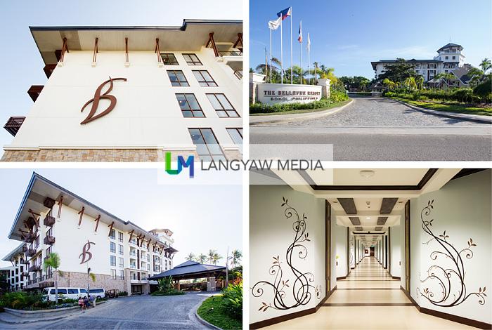 Front and corridor of Bellevue Resort in Panglao