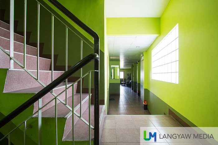 Corridor and stairs leading to the different floors