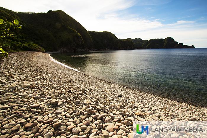 Lantangan Beach is all smooth round stones
