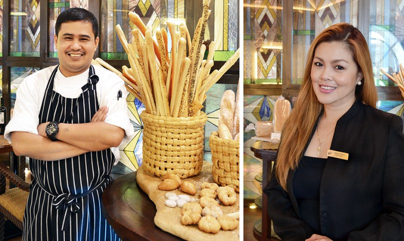 Waterfront Airport Hotel and Casino-Mactan welcomes two new peers to its team: left, Chef Danilo Gonzales, Executive Chef and Anna Corpuz, F&B Manager