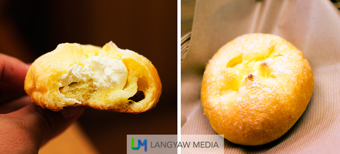 A tasty and delicious cream cheese filled bun