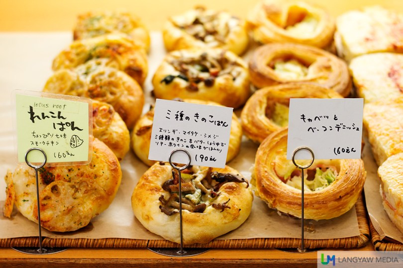 Different kinds of filled breads