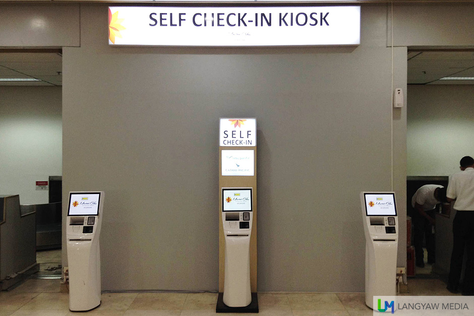 Self service check-in kiosk