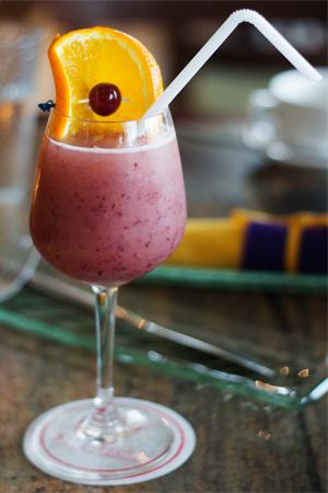 Refreshing grape juice