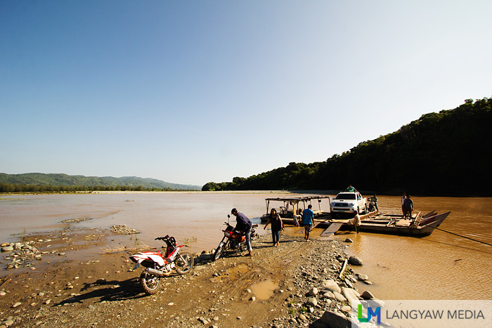 The first river crossing at Manabo town