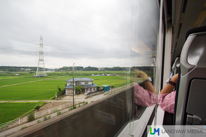 Riding the Skyliner that passes Japan countryside