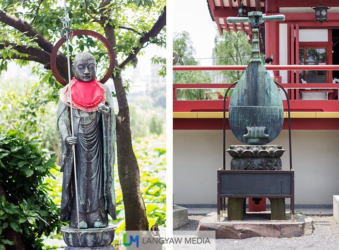 One of several sculptures and statues of the temple grounds
