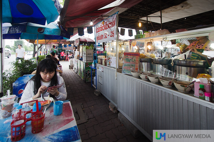 A typical street dining strip