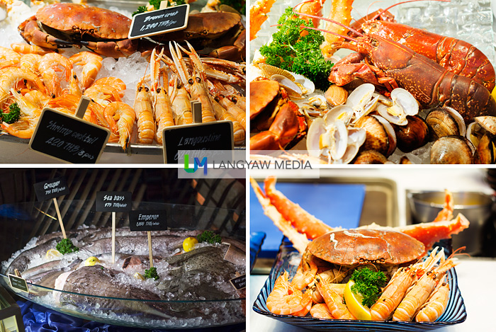 The different seafood especially flown in from Europe for the Fish and Oysters Market food and dining concept. Other than the langoustines, which I only have seen in cooking shows, my eyes were keen on the king crab legs.