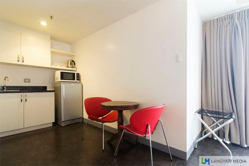 Semi furnished kitchen area