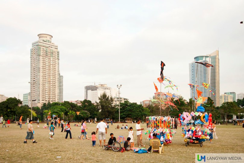 Weekend afternoons at the wide green patch fronting Quirino Grandstand is a great place for visitors to fly a kite or just relax